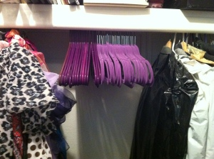 40 Purple hangers and the space hubby wants back.
