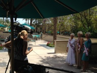 Behind the scenes.